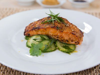 Broiled Miso Glazed Salmon