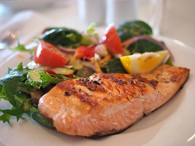 lower cholesterol eat salmon