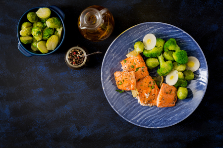 healthy meal plans require tasty entrees salmon and Brussels sprouts