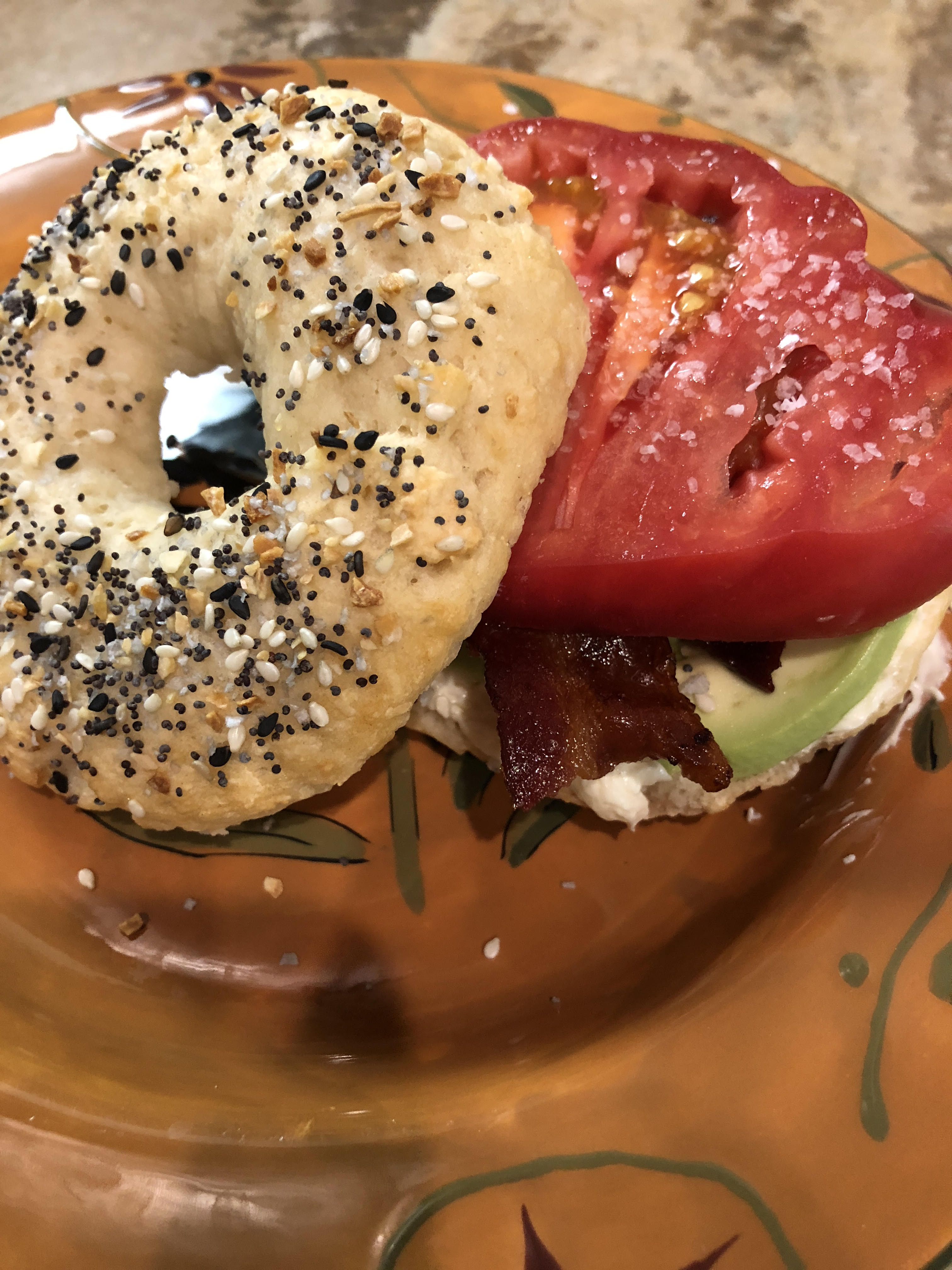 serving suggestion for healthy weight loss bagel