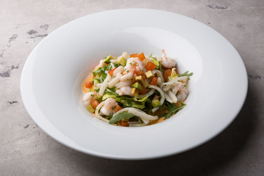 a dieting plan includes seafood salads