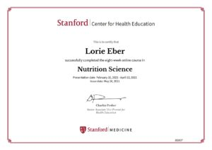 Stanford University Nutrition Science